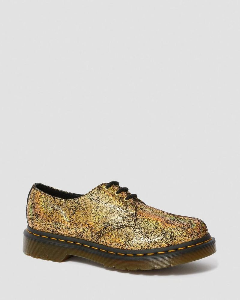 Shimmering Oxford Shoes : iridescent crackle
