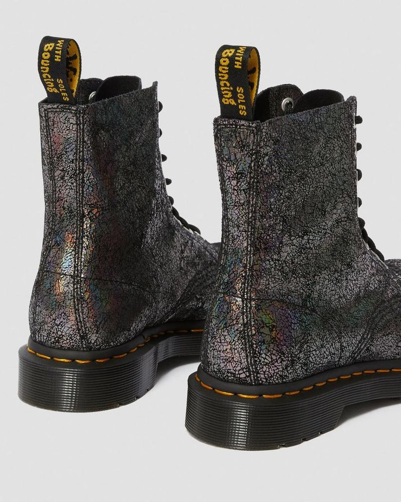 Glistening Durable Boots : pascal iridescent crackle
