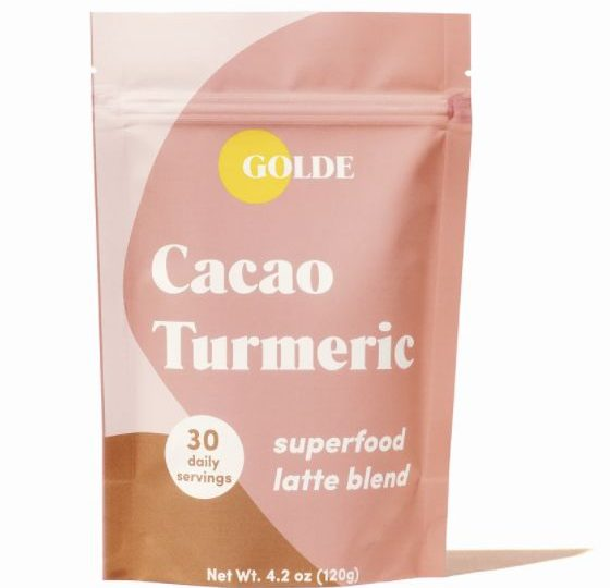 Skin Glow-Supporting Latte Blends : cacao turmeric